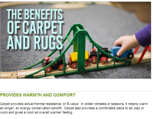 the benefits of carpet and rugs