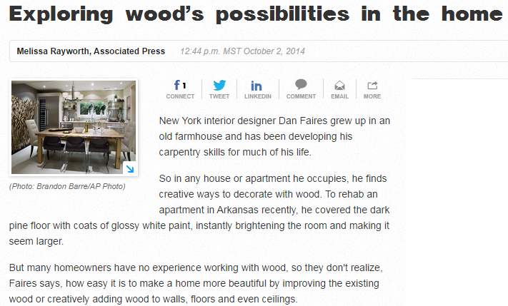 Exploring woods possibilities in the home