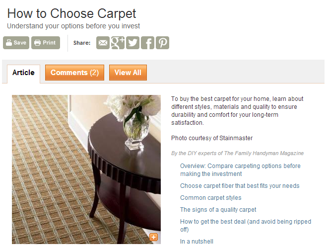 How to Choose Carpet